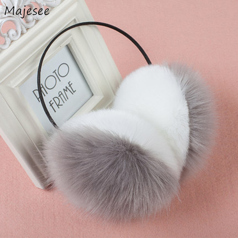 Earmuffs Women Winter Girls Pink Sweet Solid Simple Soft Warm Womens Ear Warmer All-match Korean Style Females Chic Harajuku New