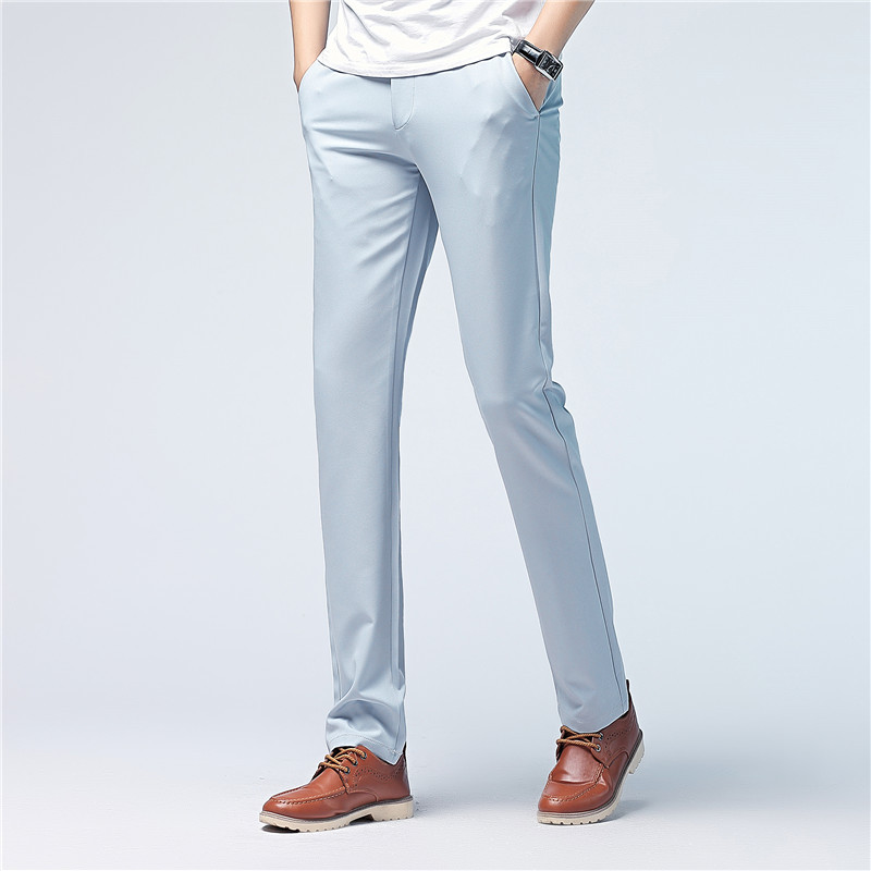 Summer Men's Cool Fashion Casual Pants Men Slim Fit Popular Trousers