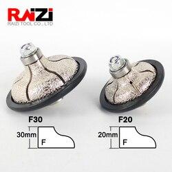 Raizi فراغ صنع من النحاس الماس اليد الشخصي عجلات F Ogee 20-30 مللي متر زاوية طاحونة بالوعة لمحة طحن عجلة للرخام الجرانيت