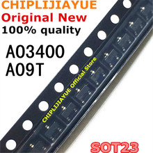 100 adet AO3400 SOT23 AO3400A SOT 23 A09T SOT23 3 SMD yeni ve orijinal IC yonga seti