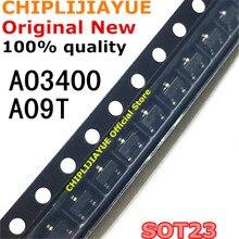 Chipset IC nuevo y Original AO3400 SOT23 AO3400A SOT 23 A09T SOT23 3 SMD, 100 uds.