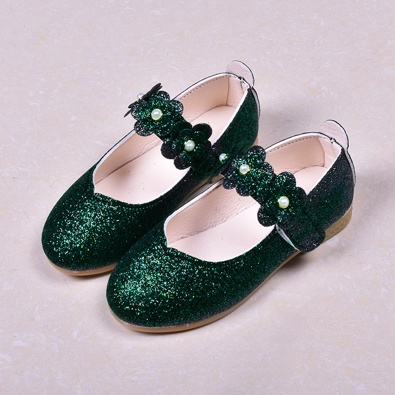 2020 Spring New Prom Bling Children Sandals Pearl Princess Girls Dance Shoes Girls Sequins Leather Dresses Shoes Holiday D03192 Sandals Mother & Kids - title=