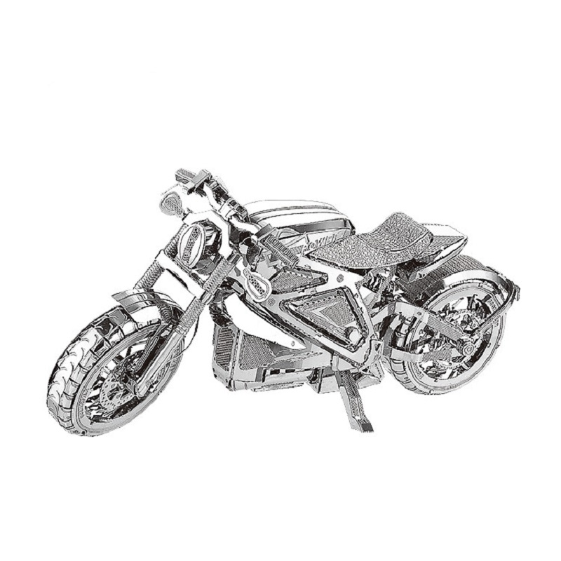 1:16 MODEL 3D Metal Puzzle Vengeance Motorcycle Collection Puzzle DIY 3D Cut Model Puzzle Toys For Adult