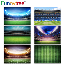 Funnytree Backdrop Photography Studio Boys Football Field Soccer Match Real Madrid CF Party Photo Background Photocall Photozone