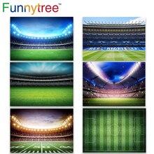 Funnytree Phông Nền Chụp Ảnh Phòng Thu Bé Trai Sân Bóng Đá Trận Đấu Bóng Đá Real Madrid CF Đảng Ảnh Nền Photocall Photozone