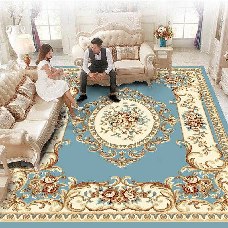 Современные жаккардовые коврики для гостиной, дома, Европейский толстый ковер, ковер для спальни, полипропиленовый диван, напольный коврик,