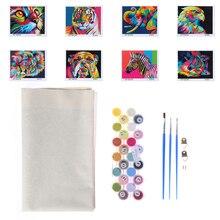 Painting-Supplies Animals Filling-Oil-Canvas Multicolored DIY Brush Set 40x50cm 3pcs