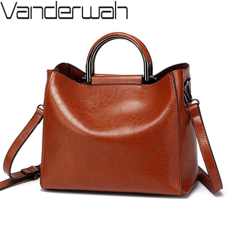 Women Vintage Leather Handbags For Woman Shoulder bag Designer  High Quality Messenger Crossbody Bags 2019 Ladies Luxury Hand  bagShoulder Bags