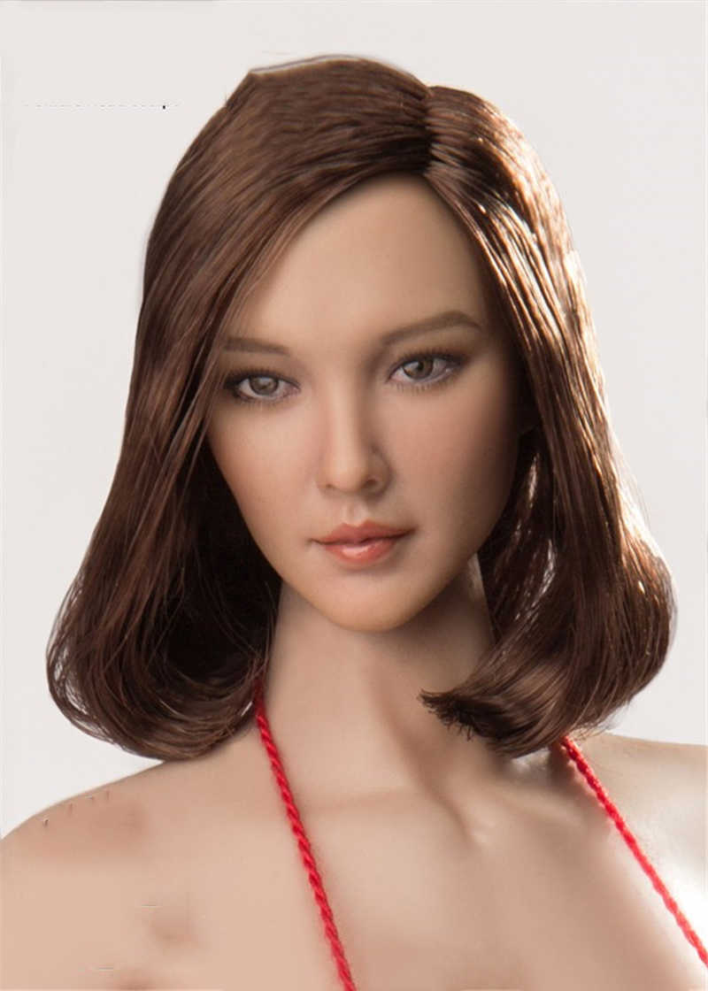 1//6 Cat Toys CT008 Beauty Asian Girl Long Curls Hair Head Carving Fit 12/'/' Body