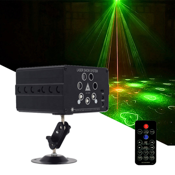 Disco LED DJ Laser Lights 7 Lens 120 Pattern Stage Lighting Effect For Stage Decoration RGB Colorful Light For Wedding Party Bar djworld led 5x30w rgb matrix dmx512 stage effect lighting for dj disco party dance floor nightclub bar and wedding decoration