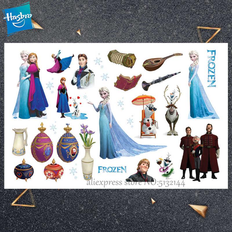 Hasbro Prinses Elsa Bevroren Kinderen Cartoon Tijdelijke Tattoo Sticker Voor Meisje Cartoon Speelgoed Nieuwigheid Cosplay Grappige Gift
