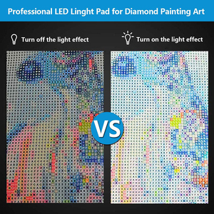 Image 4 - 5D Diamond Painting A4 Led Light Pad Board for Painting Drawing USB Powered Light Board Kit Adjustable Brightness with Stand
