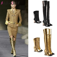SARAIRIS New Luxury Brand Over The Knee Boots Ladies Thigh High Boots Women 2019 Runway Show High Heels Shoes Woman 33-43
