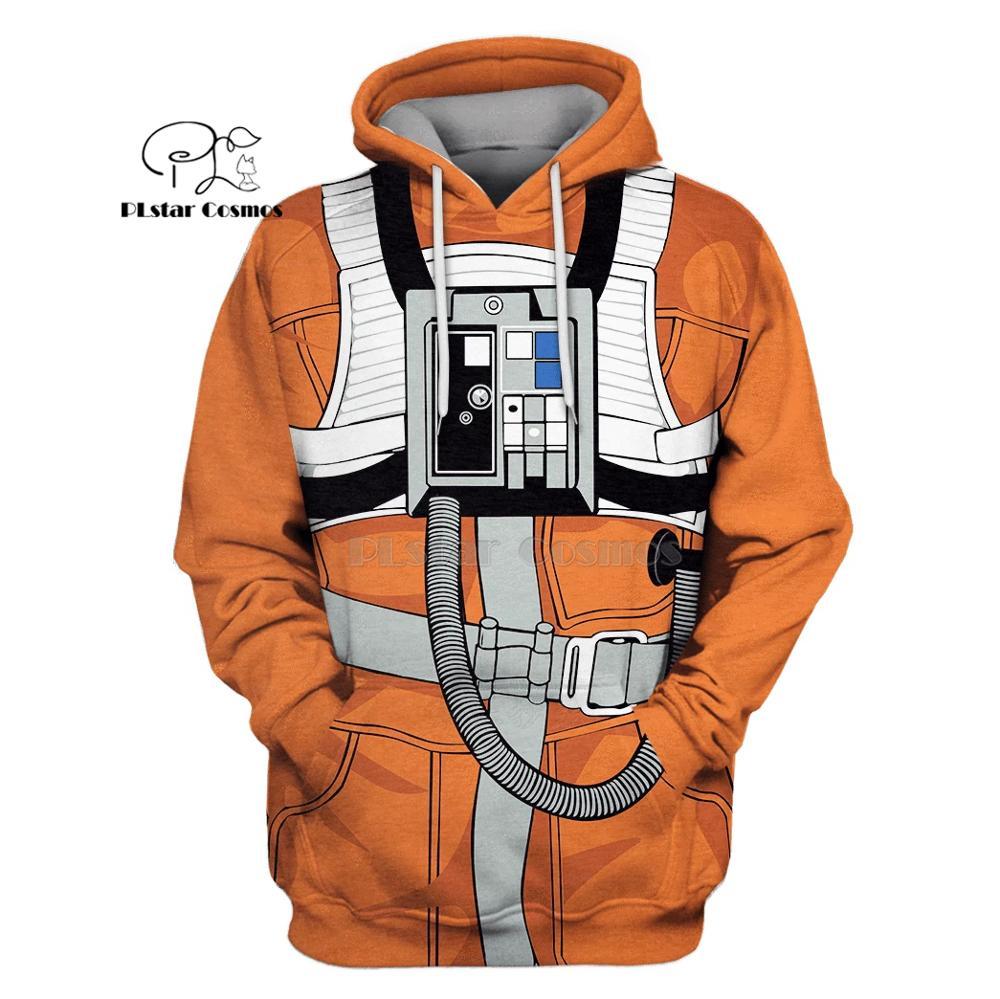 PLstar Cosmos X-Wing Pilot Armstrong Space Suite 3d Hoodies/Sweatshirt Winter Autumn Funny Harajuku Long Sleeve Streetwear