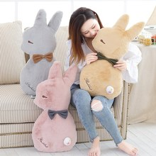 65cm Super Soft Rabbit Plush Pillow Toy Cartoon Animal Three Colors Bunny Stuffed Doll Bed Cushion Kid Birthday Gift