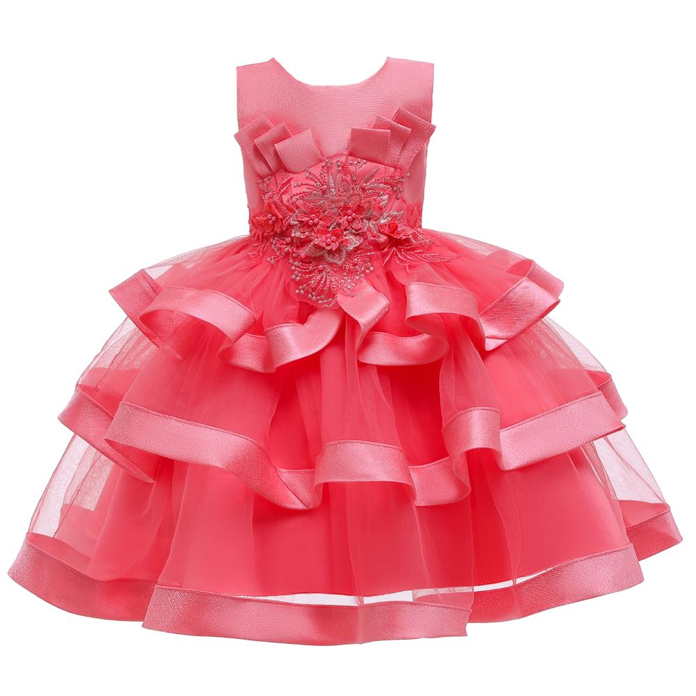 Girls Dress Elegant New Year Princess Children Party Dress Wedding Gown Kids Dresses for Girls Birthday Party Dress Vestido Wear 3