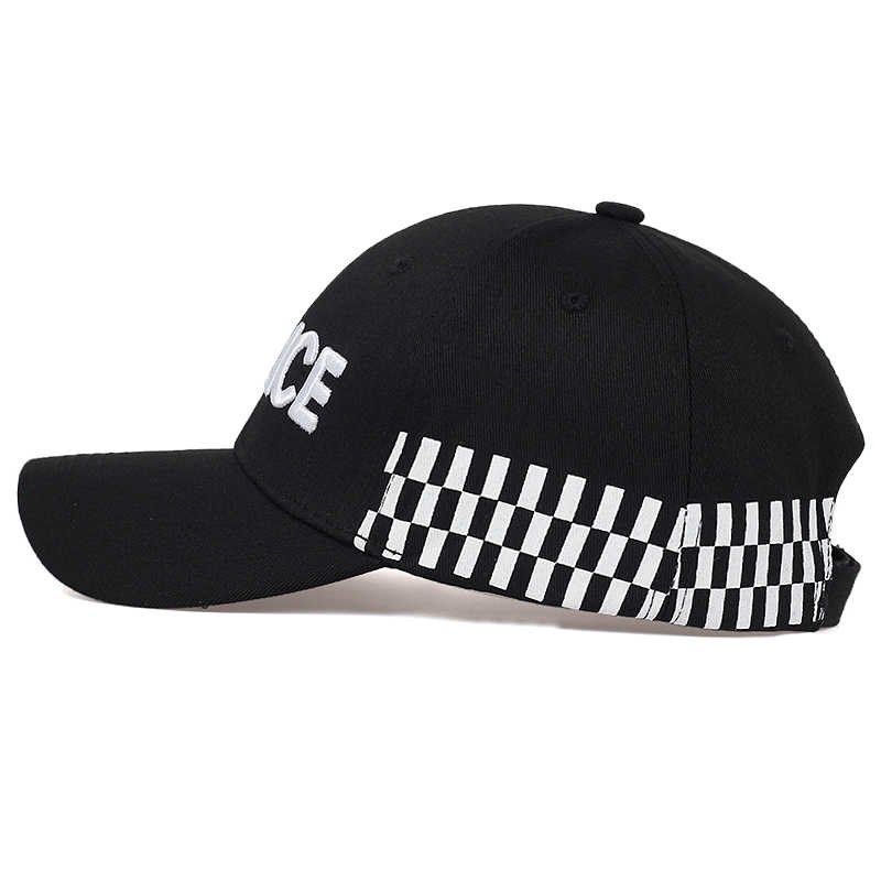 Yüksek kaliteli polis nakış beyzbol şapkası moda hip hop ayarlanabilir şapka erkekler ve kadınlar açık spor kapaklar rahat baba şapkası