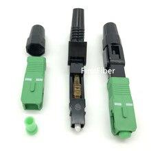 1pcs sc apc 고속 어댑터 커넥터 어댑터 지원 0.9mm 2.0mm 3.0mm 실내 및 ftth 플랫 케이블 fast/quick field