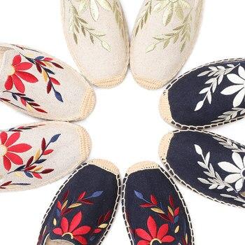 2019 Top Direct Selling Hemp Summer Rubber Print Terlik Mules Slippers Tienda Soludos Espadrilles Slippers For Flat Shoes 3