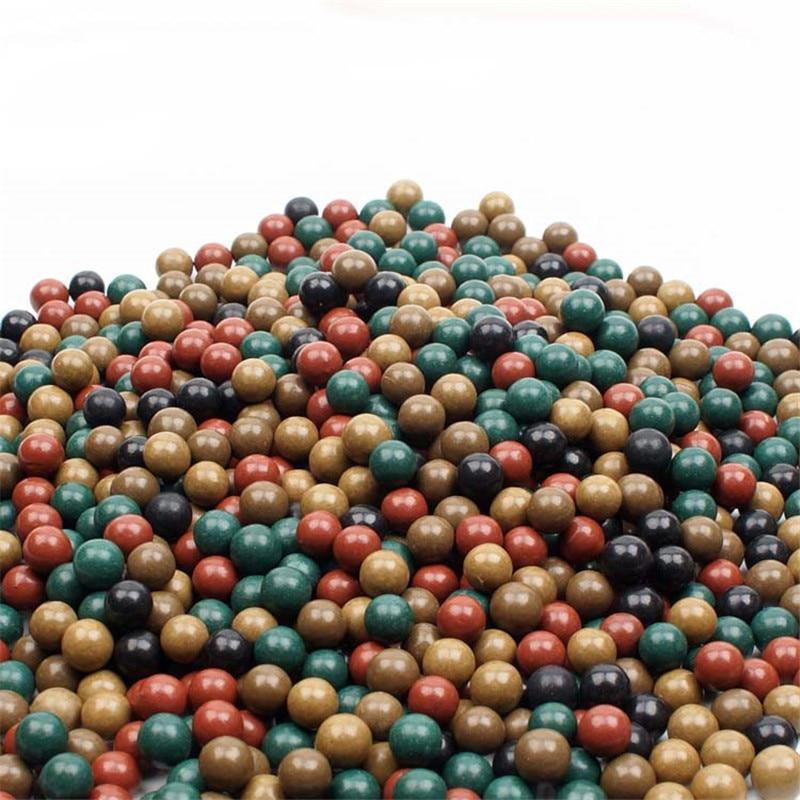 100/200pcs 9-10mm 3 Colors Mud Balls Slingshot Balls Slingshot Shooting Catapult Replacement Outdoor Hunting Ammo Mud Balls