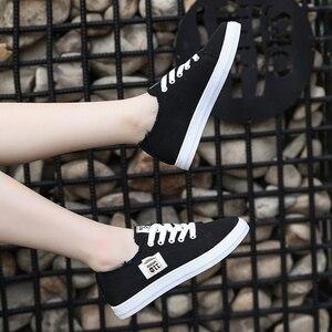 Image 5 - Frühling Sommer Frauen Turnschuhe Flache Plattform Faulenzer Vulkanisieren Weibliche Sommer Leinwand Schuhe männer leinwand schuhe Denim Casual Schuhe