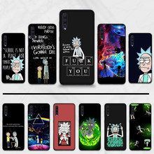 Do Samsung A50 Coque Shell rick i morty etui na telefon do Samsung S6 S7 krawędzi S8 S9 S10 e A10 A50 A70 uwaga 8 9 10 J4 J7 2017 plus(China)