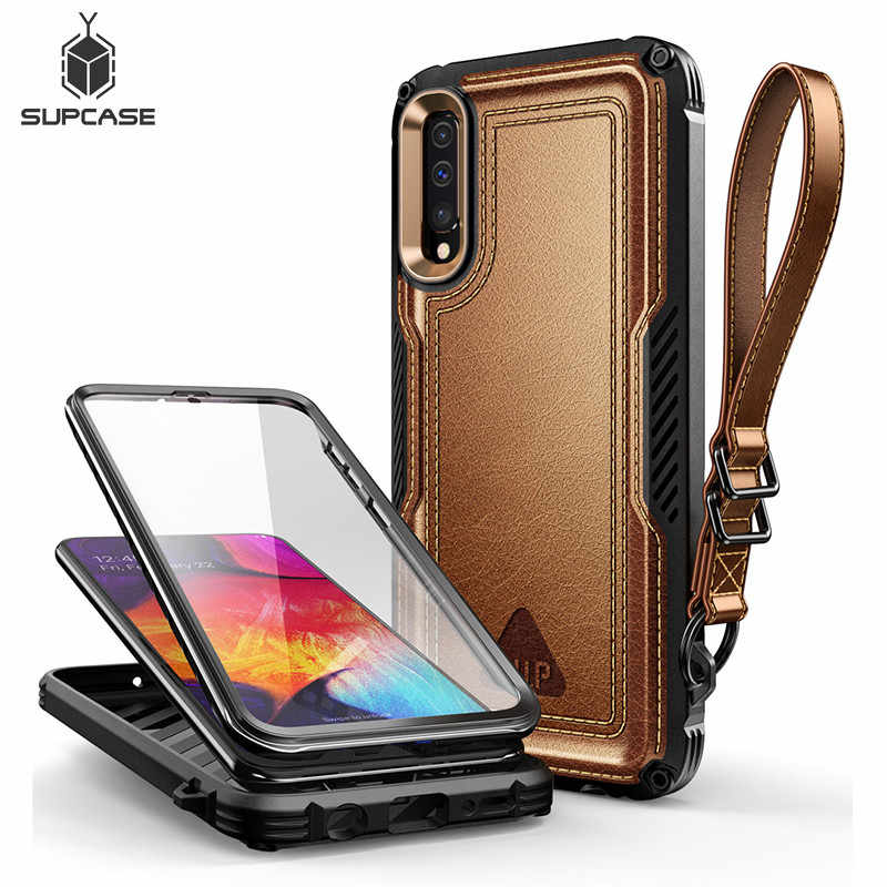 For Samsung Galaxy A50/A30s Case (2019) SUPCASE UB Royal Full-Body Rugged Faux Leather Cover Case With Built-in Screen Protector