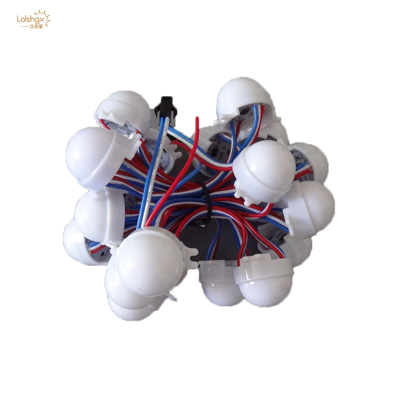 20pcs /Lot DC12V <font><b>WS2811</b></font> 30mm Diffused <font><b>LED</b></font> <font><b>Pixel</b></font> <font><b>Module</b></font> Full Color 3 <font><b>LEDs</b></font> 5050 RGB <font><b>led</b></font> lamp string D30 <font><b>modules</b></font> waterproof IP68 image