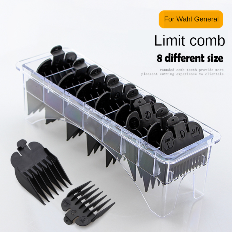 8pcs Hair Clipper Limit Comb Guide Attachment Size Barber Replacement For For Wahl Hair Cutting Hairdressing G0408
