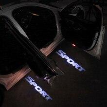 2 pçs sem fio led decoração do carro luz da porta luz de advertência logotipo luzes do projetor laser bem-vindo fantasma sombra lâmpada acessórios automóveis