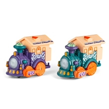 Colorful Lighting Minis Children's Smart Touch-sensing Voice-activated Train Toy with Dynamic Music for Kids H3CD
