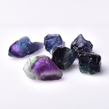 Natural Colorful fluorite Crystal Stone Healing Quartz Ore Mineral Energy Stone Fluorite Ornaments Rock Specimen DIY gift