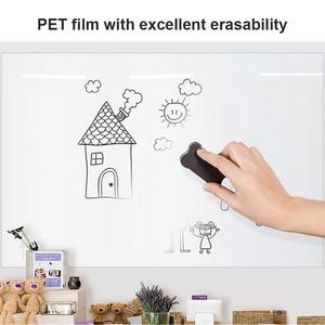 Image 3 - Tutun mıknatıslar beyaz tahta duvar Sticker ofis kuru silme yazma beyaz tahta duvar ev dekor için çocuk öğrenme Gratiffi çizim panosu