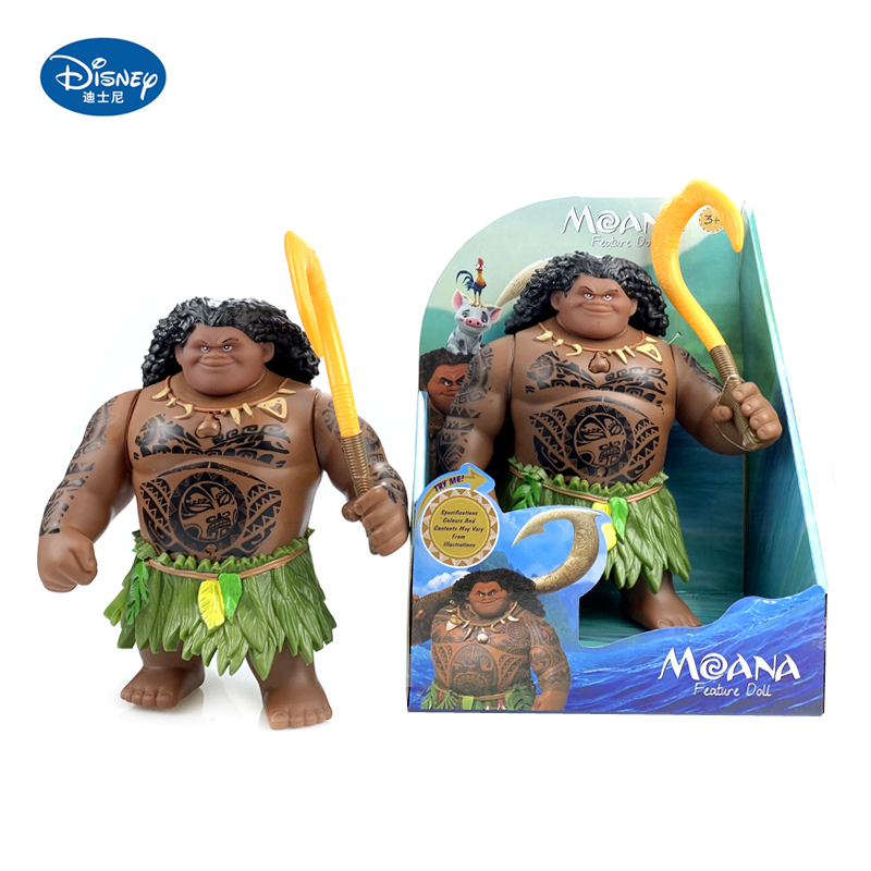 Disney Toys Movie Moana Waialiki Maui 20cm Doll Model with Music Action Figure Cosplay Childrens Birthday Gift Christmas GiftAction & Toy Figures   -