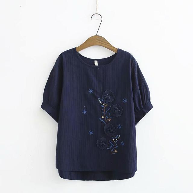 Γυναικεία μπλούζα καλοκαιρινή βαμβακερή με ανοιχτό λαιμό