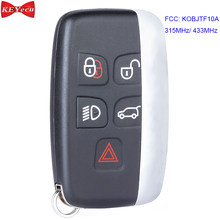 Keyecu Voor Jaguar Xe Xf Xj Xl F-Type F-Tempo Afstandsbediening Sleutelhanger 315 Mhz/433 mhz P/N: KOBJTF10A