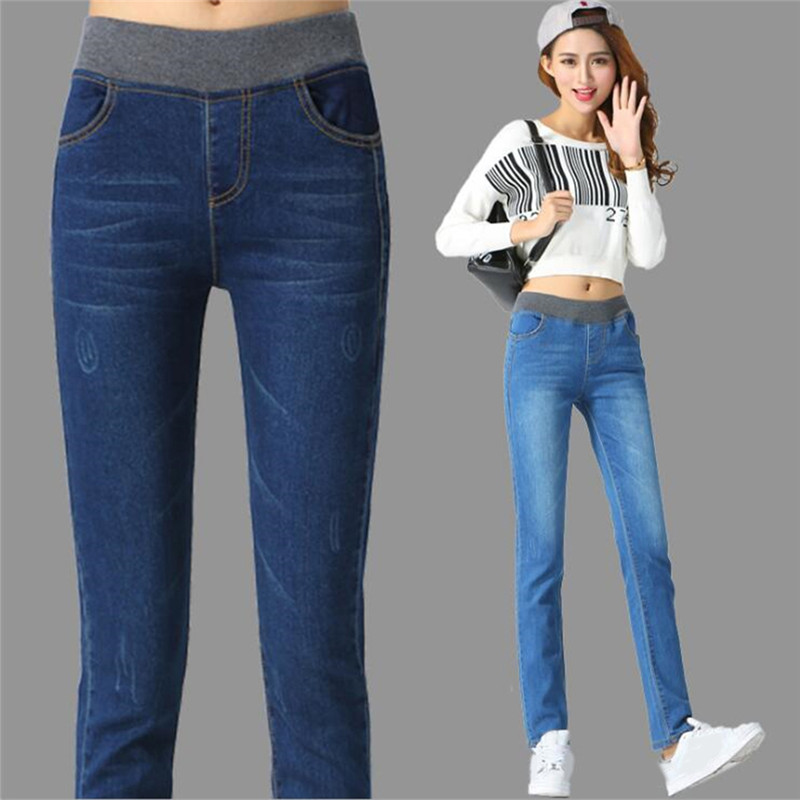 Women Mid Waist Jeans Sexy Jeans Denim Pencil Pants Jeans Womens High Streetwear Straight Pants Black Jeans Women Plus Size