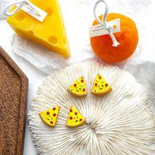 Cartoon food Earrings for women  personalized yellow resin handmade cute Earrings2020 triangle pizza trendy Earring new arrivals