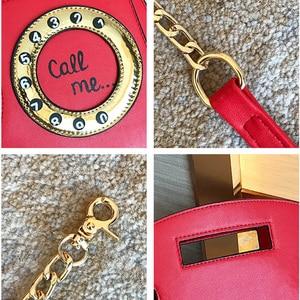Image 5 - Brand Designer Cute Bag Mini Crossbody Bags Phone Chains Letter Funny Womens Pu Leather Telephone Shaped Fashion Messenger Bag