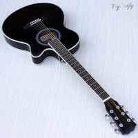 thin body acoustic electric guitar beginner guitar with free gig bag free string