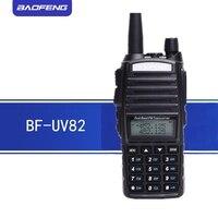 baofeng uv 2pcs Baofeng UV82 מכשיר הקשר BF UV 82 Waterproof שני הדרך רדיו 5 וואט Ham רדיו 2800mAh סוללה (1)