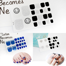 1 Piece Nail Sticker DIY Full Cover Waterproof 3D Decals Tips Manicure Art New Toe