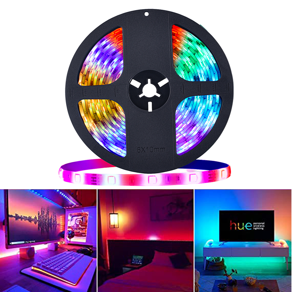 RGB LED Strip Light dream color 12V SMD5050 5M LED light strip with IC Smart Color Changing Waterproof Addressable tape lighting