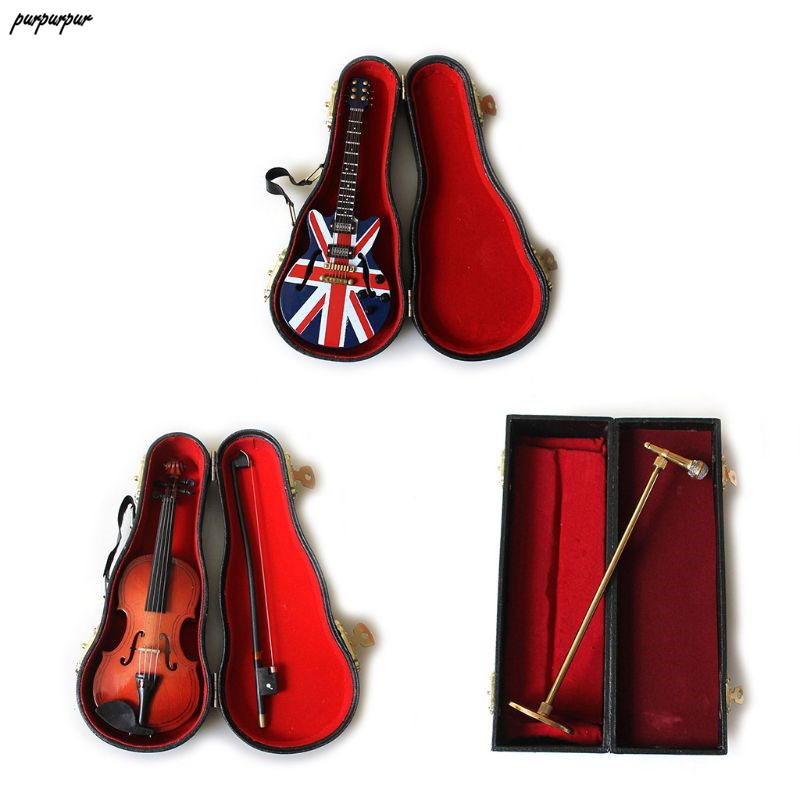 1Set Newborn Baby Photography Props Unique Guitar Violin Microphone Musical Instruments Toy Infants Photoshoot Tools Kit