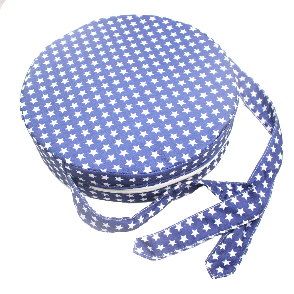 Assistant Anti Slip Dining Living Room Dismountable With Handle Baby Kids Chair Booster Cushion Easy Clean Round Washable Pad