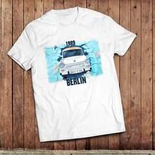 T-Shirt col rond pour homme, haut classique, à la mode, avec voitures allemandes de l'est, 2020, 1989