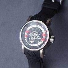 Reef Tiger/RT reloj deportivo de lujo para hombre, resistente al agua, correa de caucho para relojes mecánicos de 2020 M, de acero, 100