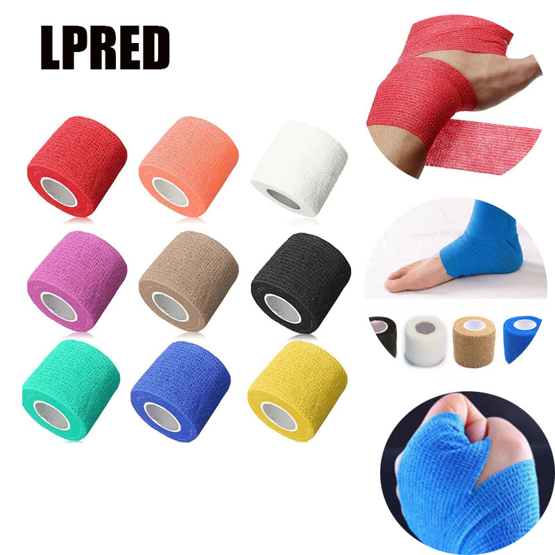 10x Security Protection Waterproof Self-adhesive Cohesive Bandages Elastic Wrap First Aid Tool Sport Body Gauze Vet Medical Tape