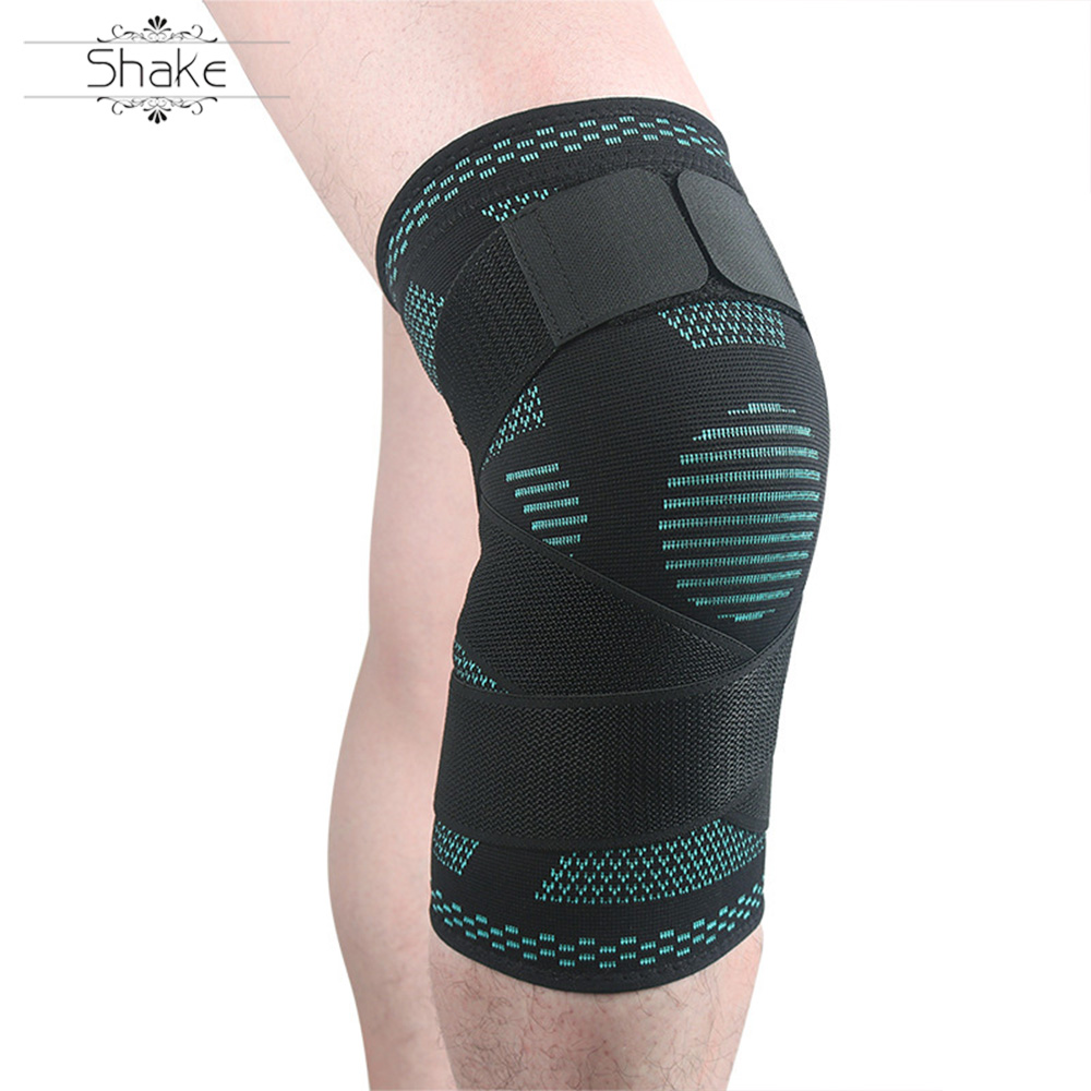 HEHE New Design Cellular Knee Calf Support Spandex Knee Sleeve Support OEM Custom Logo Compression Knee Brace Sleeves