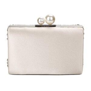 Image 3 - ZD1361 pochettes pour femmes, pochettes argent cristal, bourses faites main avec perles de mariage, sacs à main de luxe à bandoulière
